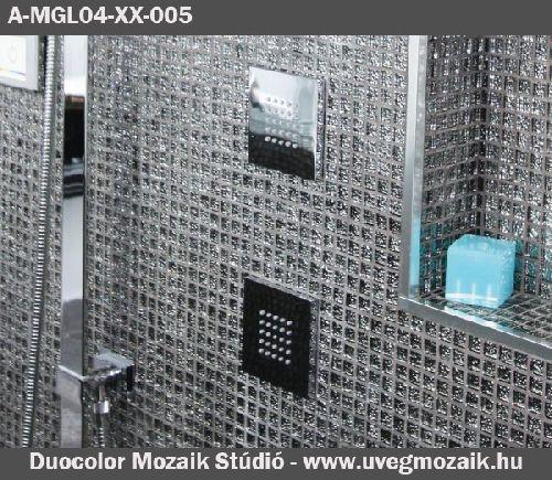 Mozaik csempe - A-MGL04XX005 - üvegmozaik