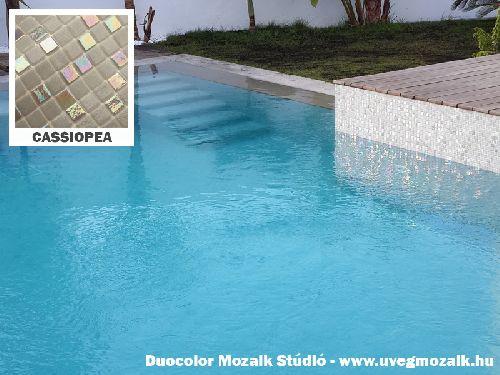 Mozaik csempe - Cassiopea - üvegmozaik
