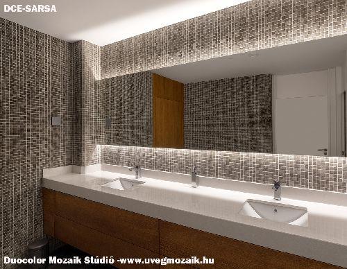 Mozaik csempe - DCE-Sarsa ambi - üvegmozaik