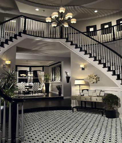 Mozaik csempe - DCO-Hexmintás black&white - üvegmozaik