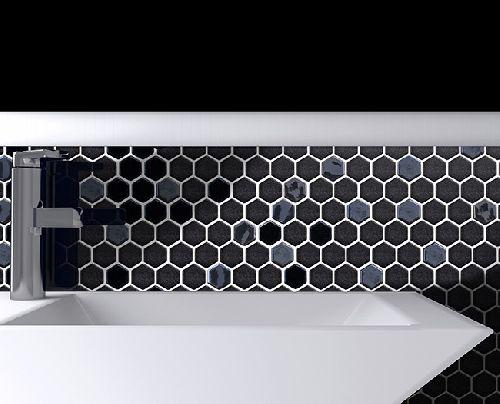 Mozaik csempe - DCO-Hexmix fekete - üvegmozaik
