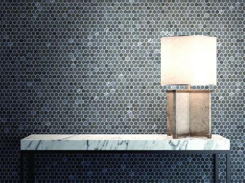Mozaik csempe - DCO-Hexmix szürke - üvegmozaik