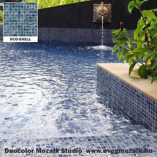 Mozaik csempe - DCO-Shell - üvegmozaik