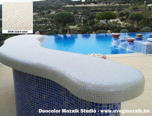 Mozaik csempe - DCR-1214 mini - üvegmozaik