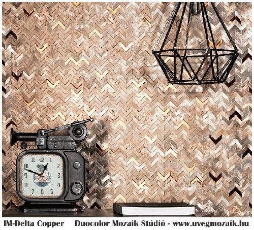 Mozaik csempe - IM-Delta copper - üvegmozaik