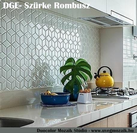 Mozaik csempe - DGE-rombus - üvegmozaik