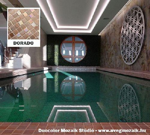Mozaik csempe - Dorado - üvegmozaik
