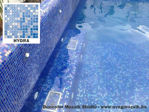 Mozaik csempe - Hydra - üvegmozaik
