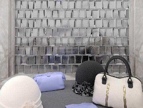Mozaik csempe - IM-Luxor Silver / tükörüveg fózolt mozaikcsempe - üvegmozaik