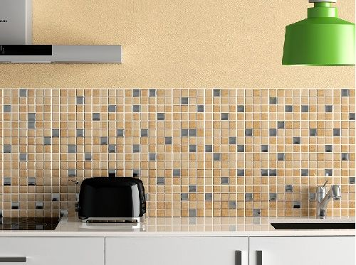 Mozaik csempe - IM-Textile Beige - üvegmozaik