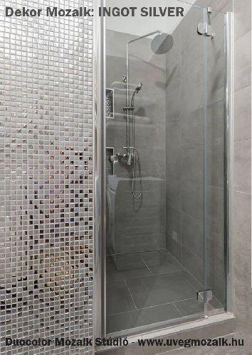 Mozaik csempe - DCA-Ingot Silver - üvegmozaik