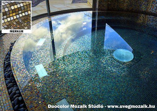 Mozaik csempe - merkur kész - üvegmozaik