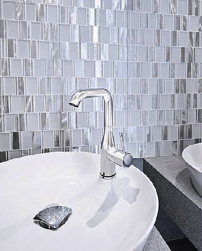 Mozaik csempe - DCD Allumi piano white - üvegmozaik