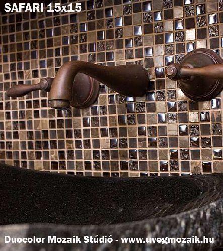 Mozaik csempe - Safari 15 - üvegmozaik