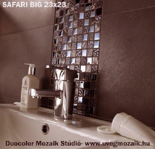 Mozaik csempe - Safari Big - üvegmozaik