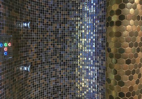 Mozaik csempe - DCHH-Swing minihexa - üvegmozaik