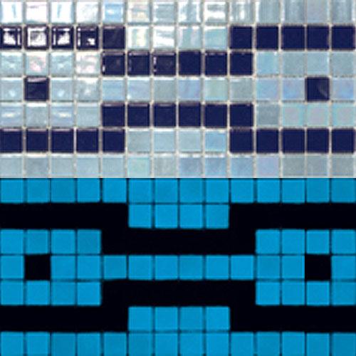 Üvegmozaik - Fluoreszkáló mozaikok